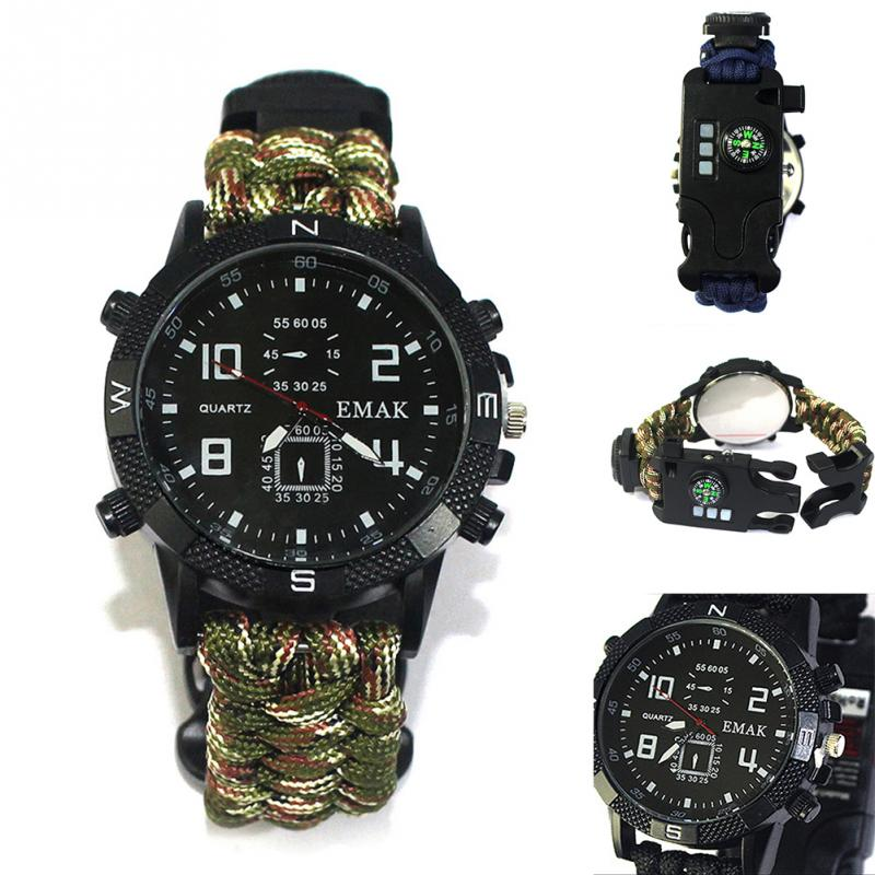 aeProduct.getSubject()  EDC Tactical multi Outside Tenting survival bracelet watch compass Rescue Rope paracord gear Instruments package HTB1WBliFL9TBuNjy1zbxh4pepXaB
