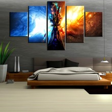 Wall Art Canvas Painting 5 Piece For HD Print Game World of Warcraft Living Room Decorative