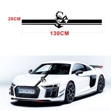 130x28 CM Racing Stripes Scorpion Vinyl Decal Sticker Creative Stickers For VW Kia Hyundai BMW