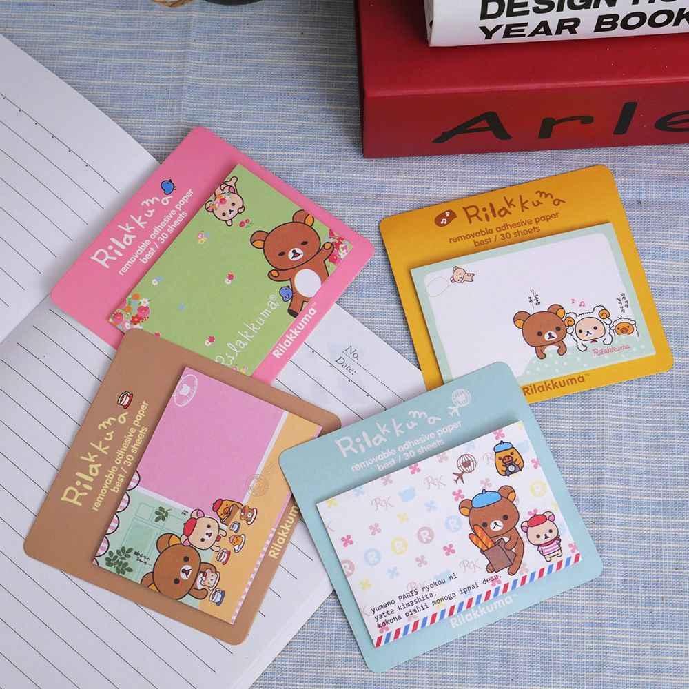1 pcs/lot nouveau Rilakkuma bloc-Notes message poste amovible papier adhésif bloc-Notes Notes autocollantes Escolar Papelaria livraison gratuite