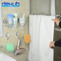 Suction Wall Mounted Stainless Steel Bathroom Accessories Set,Storage rack,Toilet Brush Holder,Towel Bar,Soap Dish,Bathroom Sets