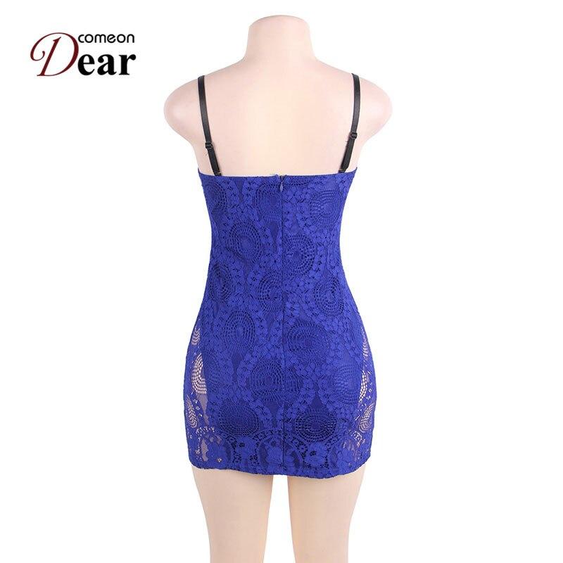 Comeondear RA80463 Blaues Bodycon-Kleid Lässige - Damenbekleidung - Foto 6