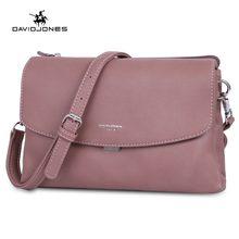 74a285a8a8a18 DAVIDJONES kadın omuz çantaları pu deri kadın çanta mini lady katı messenger  çanta kız marka crossbody