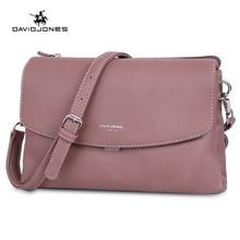 DAVIDJONES women shoulder bags pu leather female handbag mini lady solid messenger  bag girl brand crossbody bag drop shipping a02a82c734b54