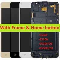 Pour Samsung Galaxy Grand Prime SM-G530H G530H/DS G530F/DS tactile numériseur capteur LCD écran d'affichage avec cadre accueil bouton + Kits