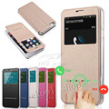 Smart Slide Luxury Matte Flip Case For Samsung Galaxy Note 2/3/4/5  S3/S4/S5/S6 S6edge/S6 edge Plus PU Leather Cover + TPU