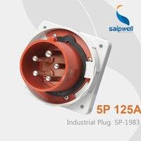 Saipwell IP67 5 pin Plug 125 amp Industrial Plug Electrical Plug Waterproof SP 1983 High Quality