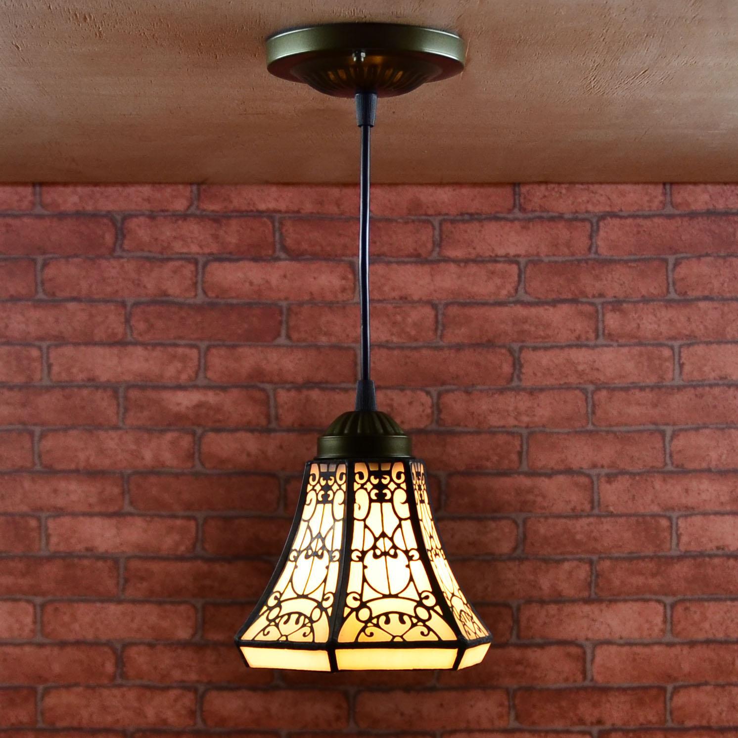 Style européen tiffany rétro vitraux suspension lumière balcon allée porche couloir petite salle de bains suspension lampe