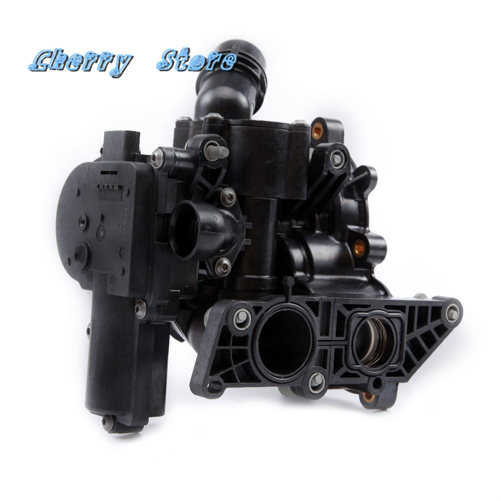 NEW 06L 121 111 G Plastic Electronic Water Pump Thermostat Housing For VW Golf MK7 Passat