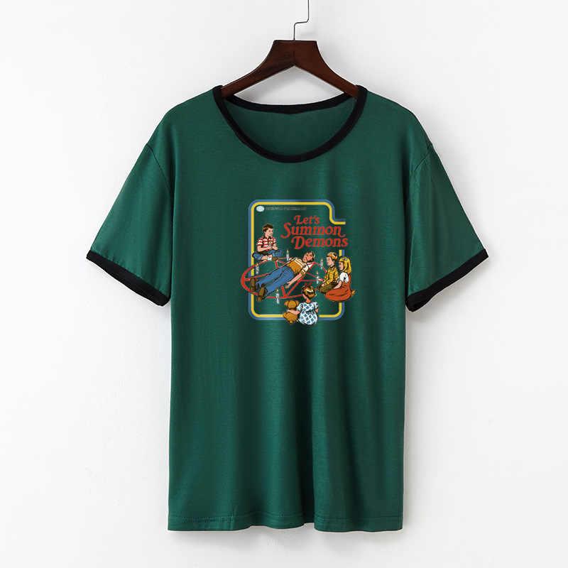 Casual Baumwolle Lustige T-Shirt Frauen Print Kurzarm O-ansatz T Hemd Frauen Netten T Hemd Femme Sommer Tops Femme Camiseta mujer