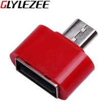2016 Glylezee USB To Micro USB OTG Adapter Convertor 5 Colors for Cellphone Laptop Computer Notebook Free Shipping