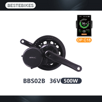 Ebike kit BBS02B 36V500W bafang motor electric bicycle conversion kit electric bike kit velo electrique mid drive motor