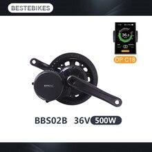 Ebike комплект BBS02B 36V500W двигатель bafang электрическое преобразование велосипедов комплект электрический велосипед комплект вело electrique среднемоторный привод