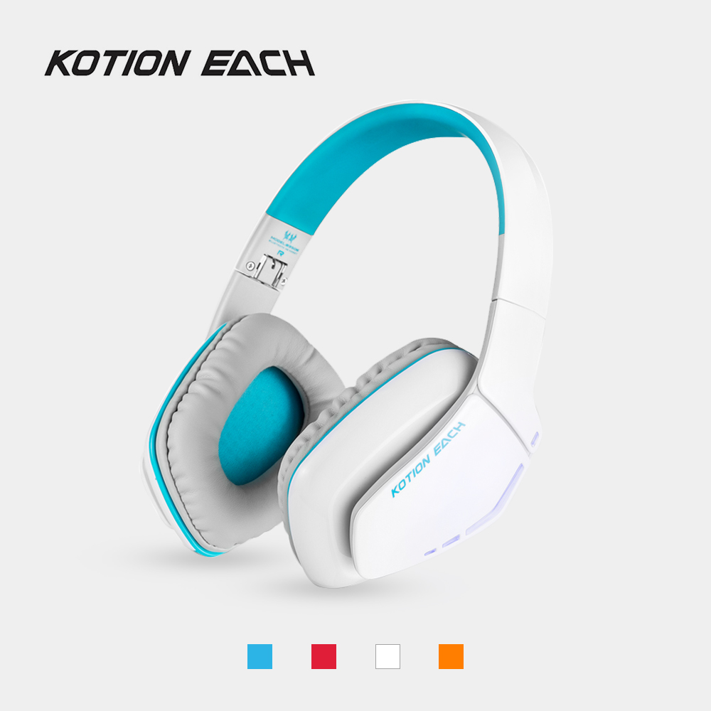KOTION EACH B3506 Bluetooth 4.1 Headphones Wireless Foldable Gaming Headset with Microphone LED Wired Earphone for PS4 PC Gamer kotion each b3506 foldable auriculares wireless fone de ouvido bluetooth headphones gaming headset gamer microphone kulaklik