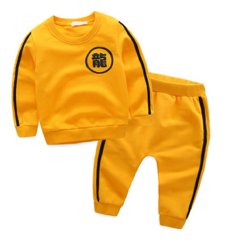 Christmas Boys Spring Autumn Clothes Sets Sports 2016 Chinese Gongfu Letter Printed Cute Hoodies Pants Kids
