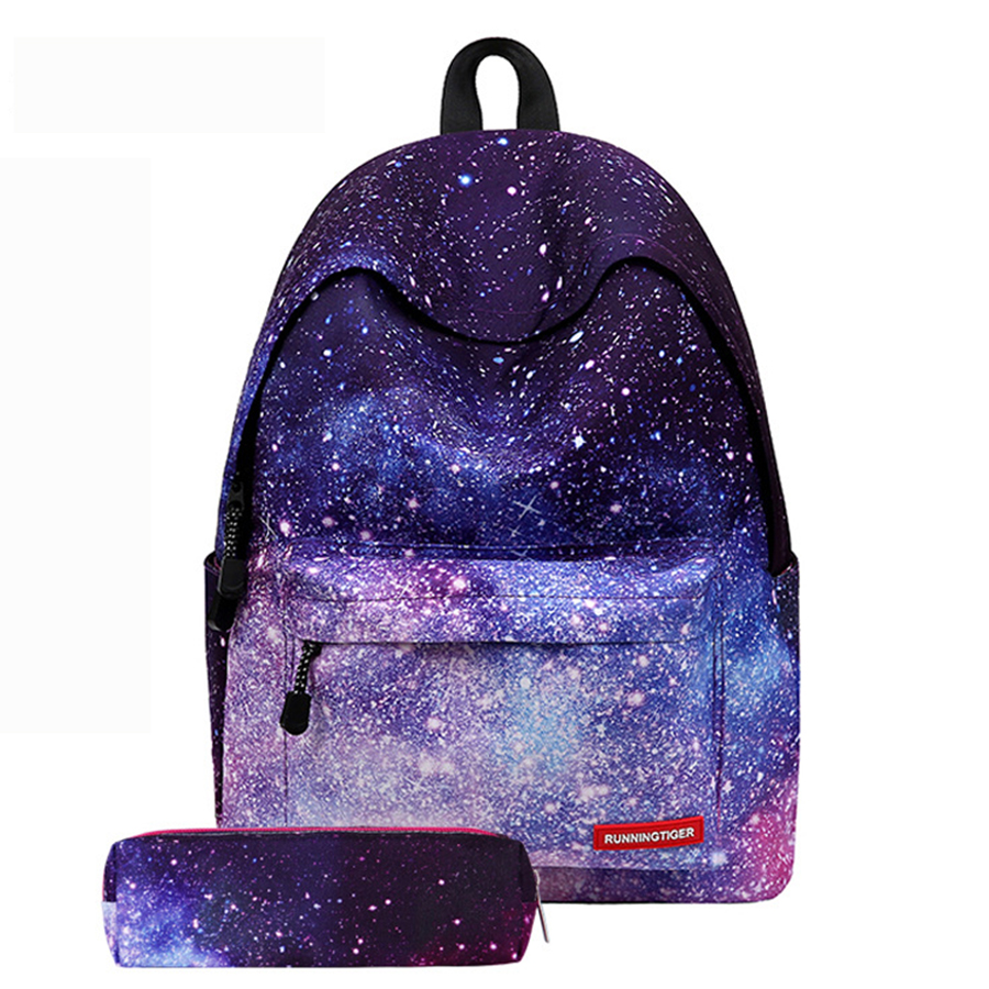 Multicolor Backpack Stylish Galaxy Bookbags Star Universe Space School Bags For Teenager Harajuku Women Rucksack 2018 Laptop New stylish multicolor stripe pattern bucket hat for women