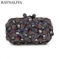 New Women Skull Gold Bags Ladies Evening Clutch Bag Female Party Fashion Purses Casual Diamonds Minaudiere Smyzh e0141