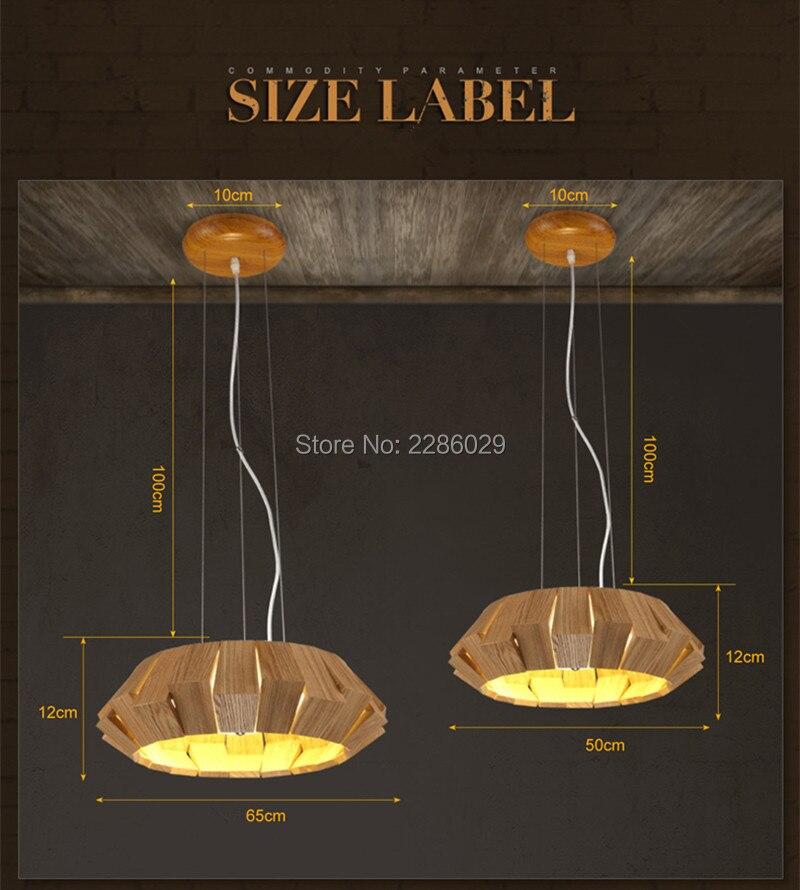 D65CM Modern Creative LOFT Wood Pendant lights dining room lamparas colgantes for indoor decor avize