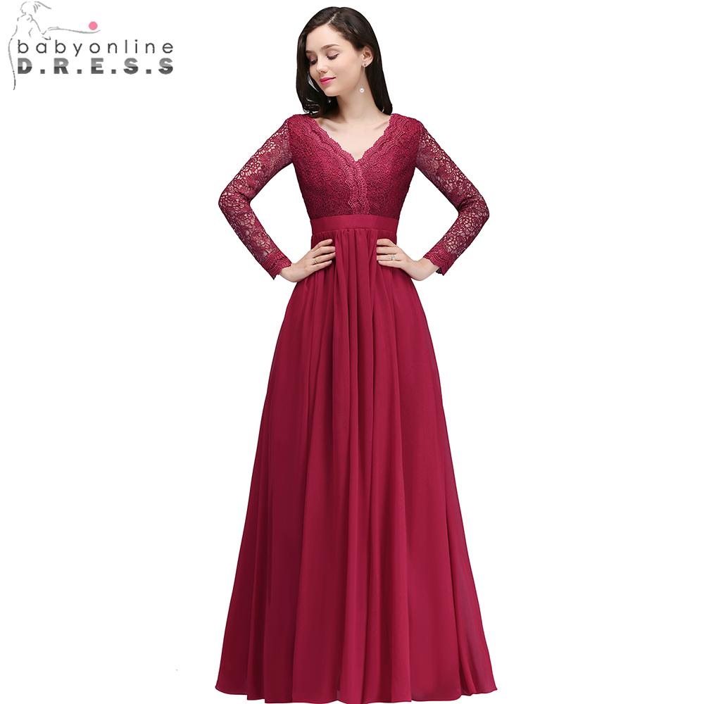 Uzun kollu abiye elbise modelleri 11 pictures - Babyonline Seksi V Yaka Uzun Kollu Abiye 2018 Bordo Rg N Elbiseler A Geri Parti Elbise Vestido