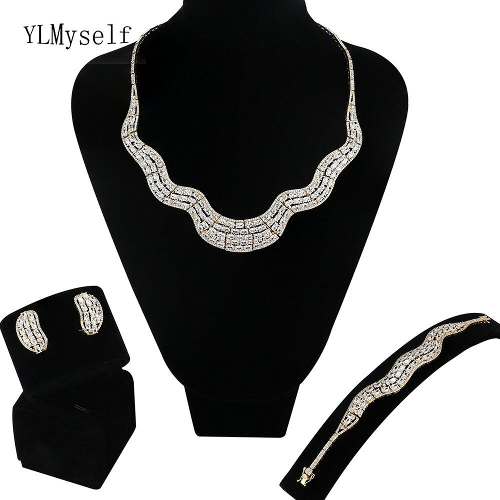 Édition limitée vente très grand 4 pièces ensembles de bijoux Collier/Bracelet/boucles d'oreilles/taille libre bague grande fête bijoux ensemble pour les femmes