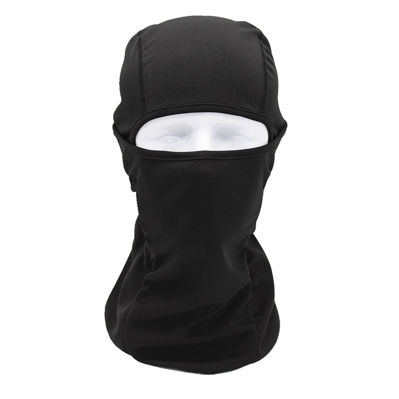 New Balaclavas Windproof Quick-Drying Gear Breathable Anti UV Soft Full Face Mask Motorcycle Bicycle Tactical Military Army Hats protective outdoor war game military skull half face shield mask black