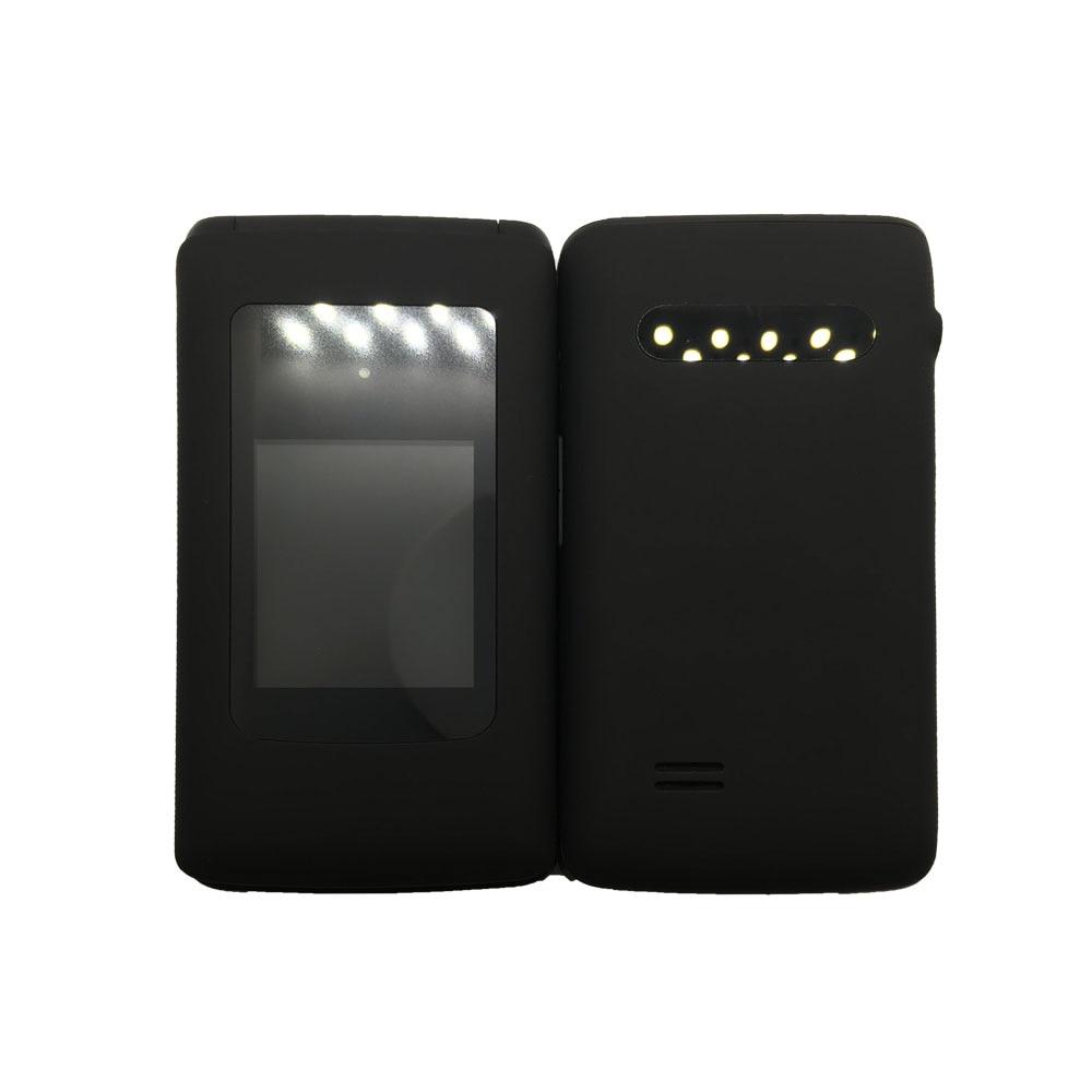 YINGTAI T30 мобильный телефон с откидной крышкой GSM Большой кнопочный мобильный телефон с двойным экраном с откидной крышкой с двумя сим-картами FM мобильный телефон с раскладушкой для пожилых людей - Цвет: Черный