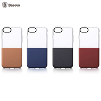 Baseus Half To Half Case For IPhone 7 Double Color Double Material Transparent Soft TPU Hard