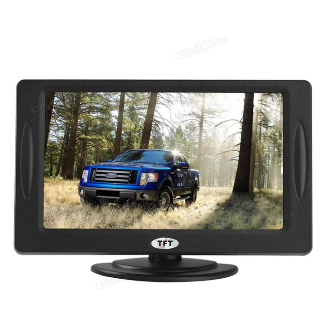 Venda 4.3 polegada TFT LCD a Cores Car Rear View Monitor de Estacionamento Retrovisor Monitor de Tela Giratória para DVD VCD Câmera Traseira