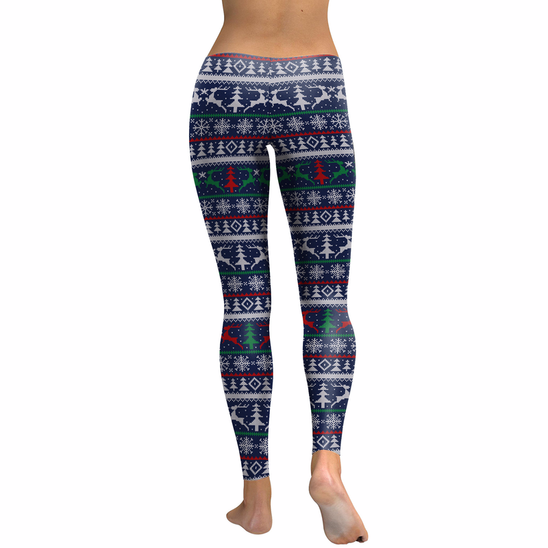 Fans Made Christmas Fitness Womens Leggings Green Women Pants Calzas Mujer Leggins elk 3D Prindted Leggings Party Cosplay in Leggings from Women 39 s Clothing