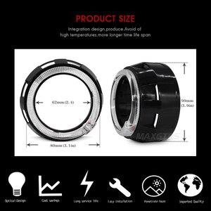 Image 4 - 2x3.0 Pro LED Lensler araba farı bi xenon Hid Projektör Lens CCFL LED Melek Gözler Halo DRL Far araba Güçlendirme Aksesuarları