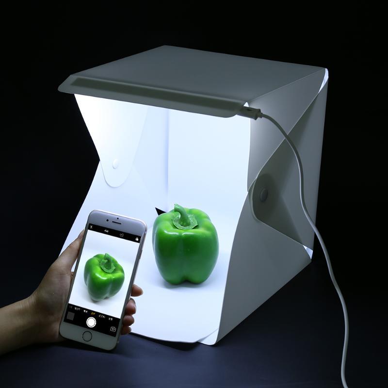 230*220*15mm Mini Pliable Lumière Chambre Boîte 20-LEDs Lumineux Softbox Table Tops Photo Studio Tente Tir lightbox Accessoires
