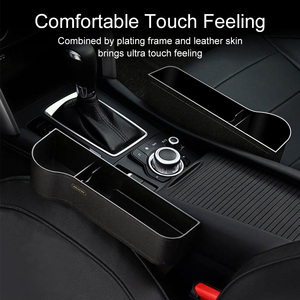 Image 4 - Ascromy Qi Wireless Charger Car Organizer Wireless Charging Station Storage Box Holder Car Seat Slit Gap For iPhone XS Max XR X