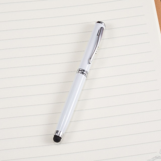 New School Supplies Office Stationery Ball Point Pen LED Laser Light Touch Screen Capacitive Pen Multifunction Pen 4