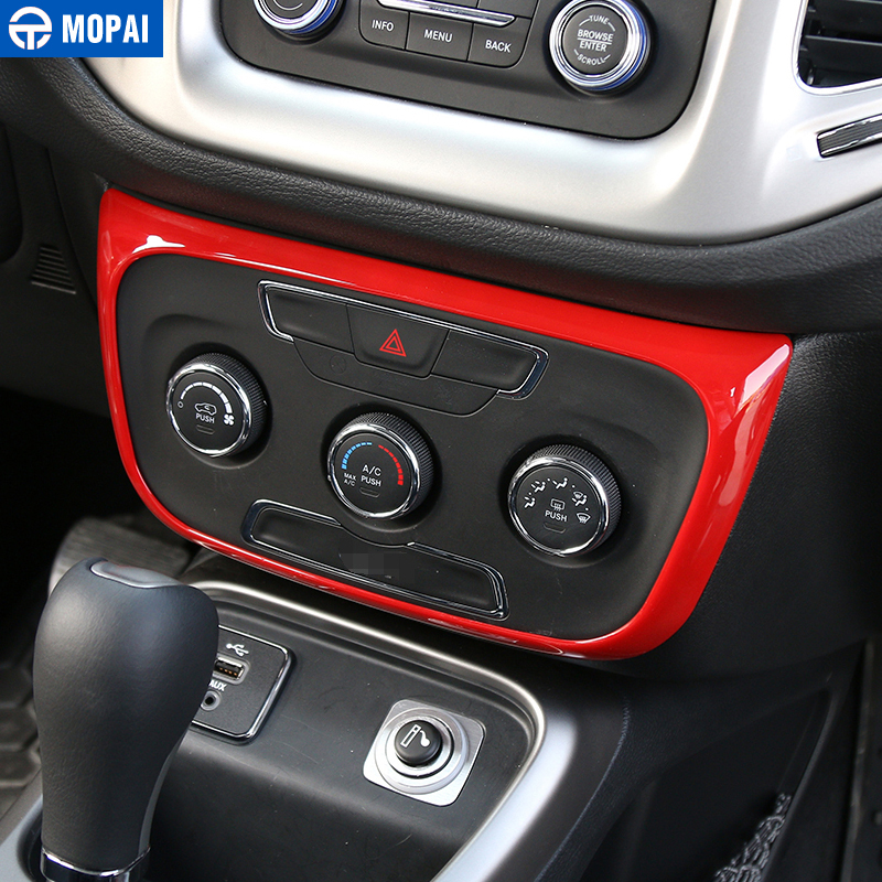 Image 3 - MOPAI ABS Car Interior Air Conditioning Control Switch Panel Decoration Stickers For Jeep Compass 2017 Up Car Styling-in Interior Mouldings from Automobiles & Motorcycles