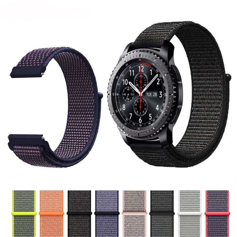 Bracelet Strap Watch Band For Samsung Gear S3 Frontier Classic Nylon 22mm smart watch accessories strap for Huawei Watch GT 2