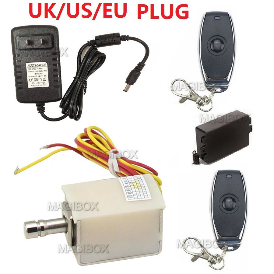 Remote Control Electric Bolt Lock XG-01 Small Electronic Cabinet Drawer Lock + Remote Control + 12V Power Supply