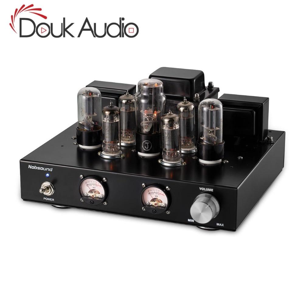 Douk Audio 6P1 Vacuum Valve Tube Stereo Amplifier Class A Single Ended Power Amp 6 8