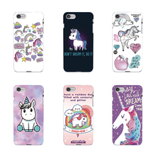 Fatperson Black cover For iPhone 7 7Plus 5G 5S 4S 6 6S Samsung Galaxy S8 Plus S7 S6 Edge S3 S4 S5 Cute Cartoon Unicorn Cases