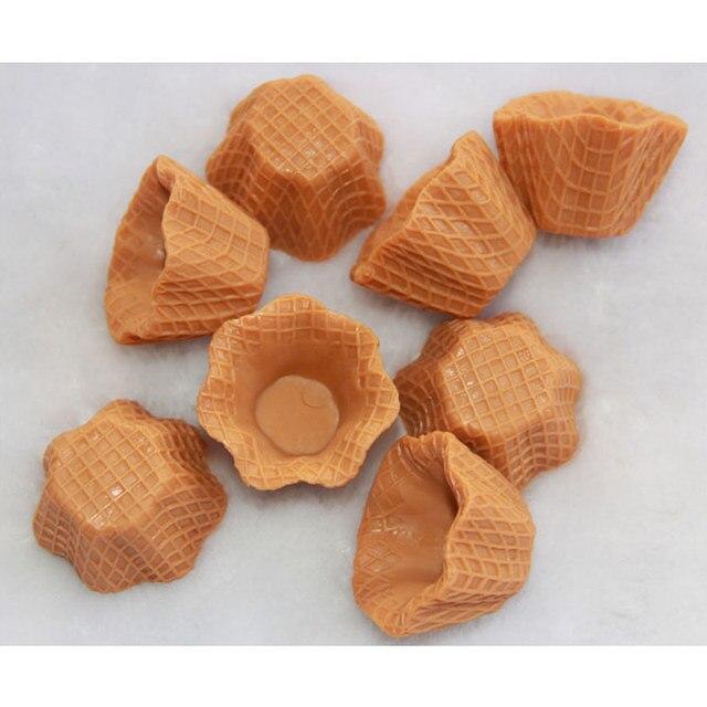 6 35 10 Pcs Lot Style Japonais Decoration Pour La Maison Bricolage Produit Faux Fleur Glace Cone Base Simuler Nourriture Douce Plastique Artisanat