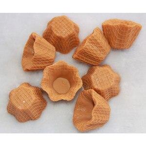 10 uds/lote estilo japonés DIY producto de decoración del hogar flor falsa Base de cono de helado simula manualidades de plástico de comida dulce # DIY043