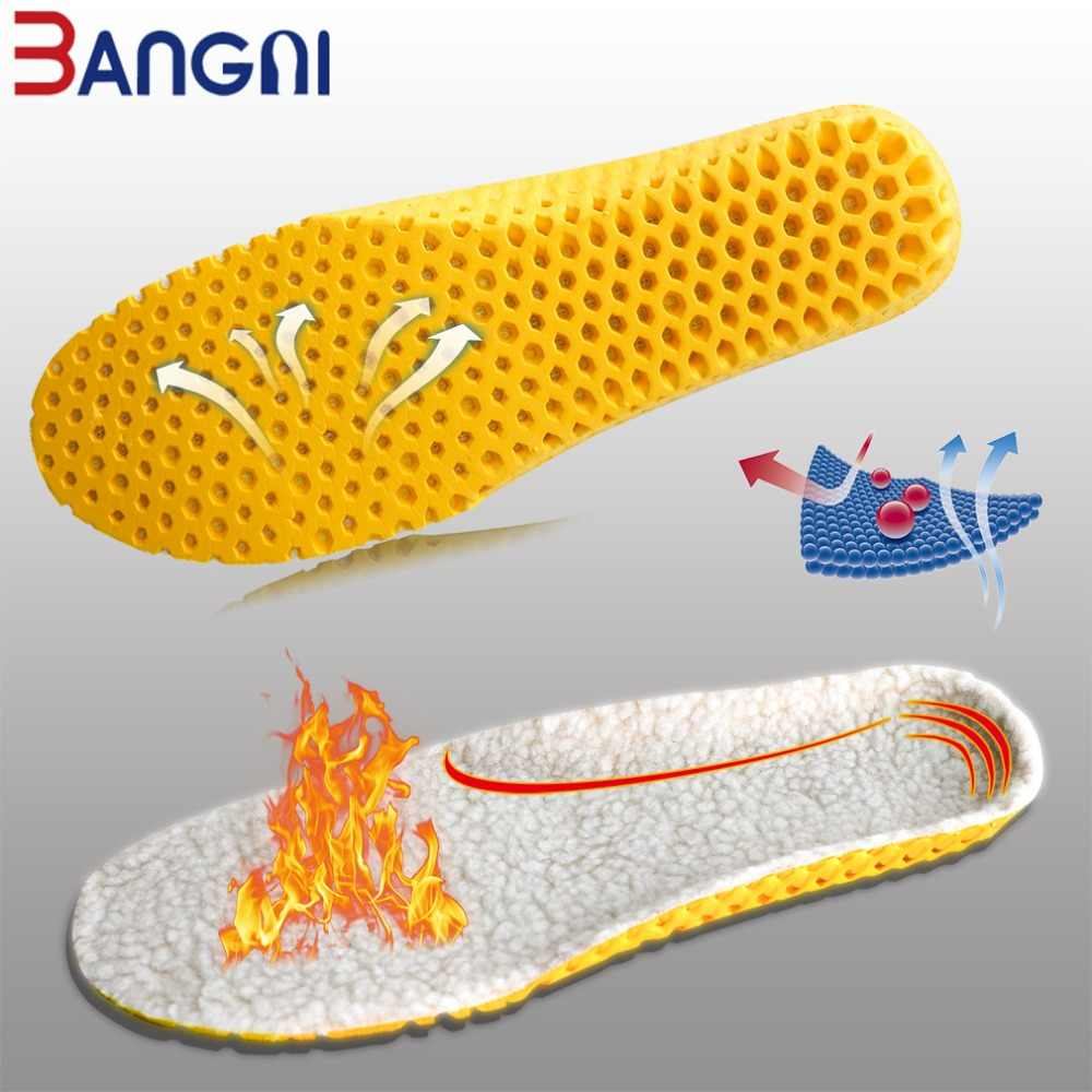 3 ANGNI Sıcak Tutmak Isıtmalı Kaşmir Termal Tabanlık Kalınlaşmak Yumuşak Nefes Kış spor ayakkabılar Elemanı Man Kadın Botları Pad Taban