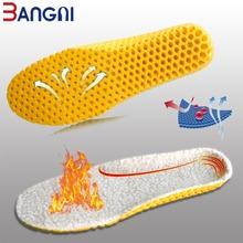 3ANGNI utrzymać ciepłe podgrzewana wkładka kaszmirowy wkładki termiczne zagęścić miękkie oddychające zimowe buty sportowe dla człowieka kobieta buty podeszwa tanie tanio 1 cm-3 cm Średnie (b m) Warm insoles-001 WOMEN Futro Stałe Pot-chłonnym Szok-chłonnym Lekki Cashmere EVA