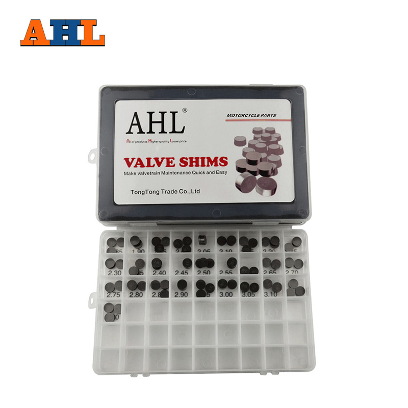 все цены на AHL 84pcs Motorcycle Engine Parts 10mm Adjustable Valve Shim Complete Washers Refill Kit For Harley Davidson For Aprilia