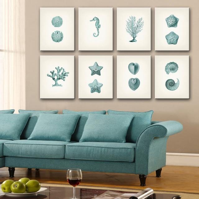 Free Shipping Art Print Oil Painting Marine Organisms Series Mini Size One Pcs Home Decor