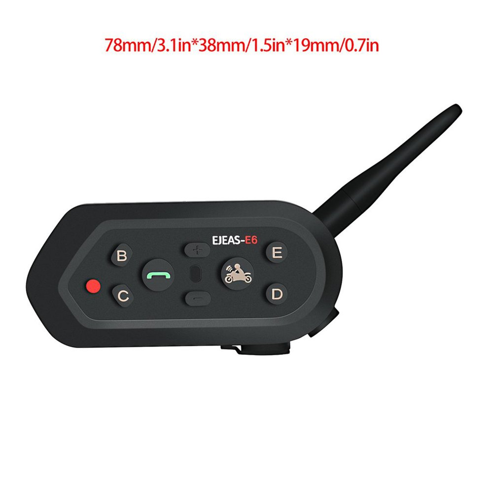 EJEAS Waterproof Motorcycle Helmet Intercom E6 Single Package Simple Durable Intercom