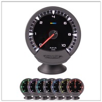 afr gauge Universal GReddi Sirius Meter Series Trust 7 colors Auto Tachometer Tacho RPM Gauge Meter New Electronic Boost Sensor