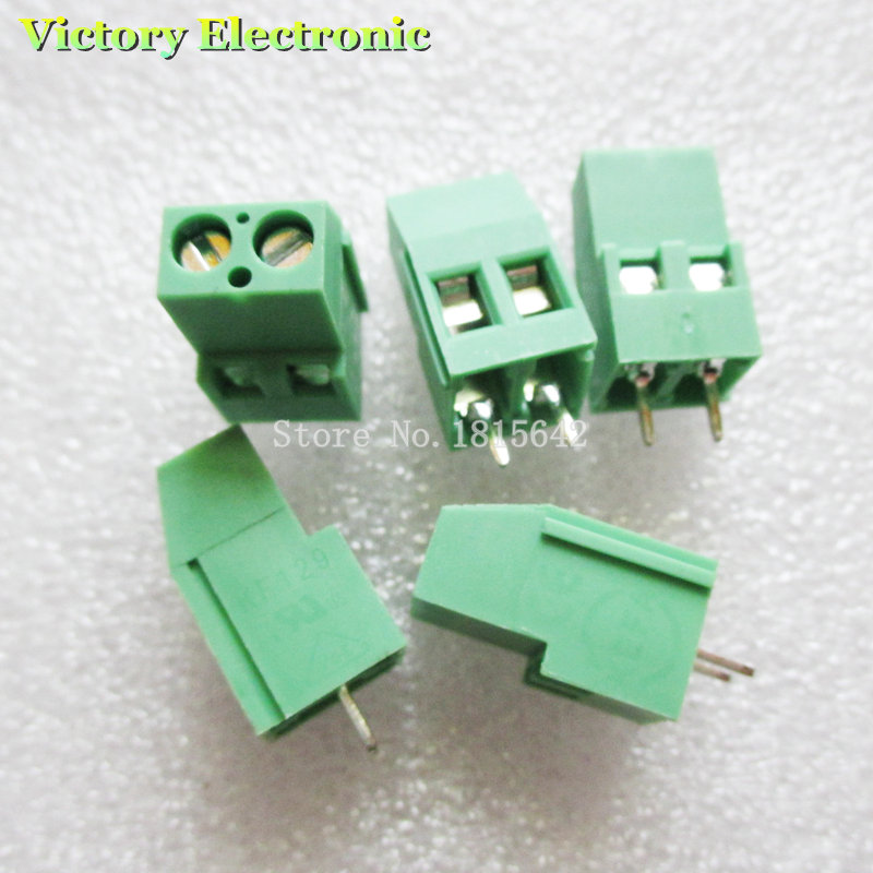 10PCS/LOT KF129-5.08-2P KF129-2P 300V 25A Screw 2Pin 5.08mm Straight Pin PCB Screw Block 24-12A WG