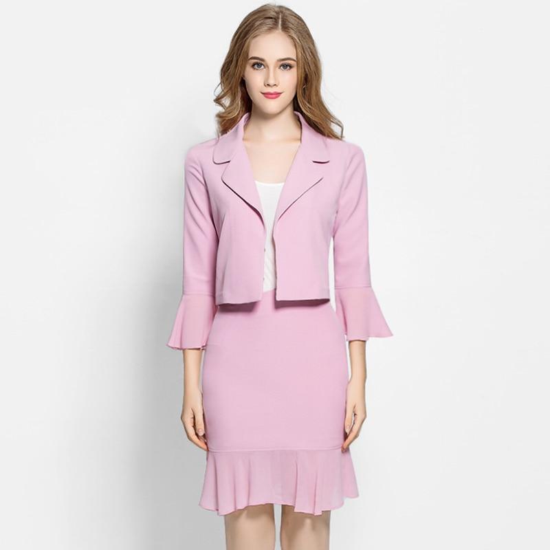 ᗗRG mujeres elegante primavera traje de falda desgaste para ...