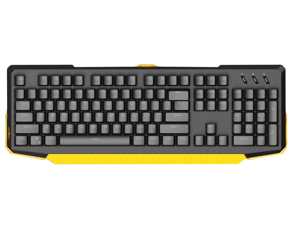 James Donkey 616 USB Wired Membrane Gaming Keyboard with RGB LED Backlight 104keys for Mac/Laptop /Office /Gamers,English layout