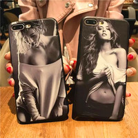 RHOADA Coque Case For Apple iPhone 5 5s SE 6 6s Plus 7plus Case TPU Cover Smooth Sexy woman Girl Soft Silicon Case for iphone 5S